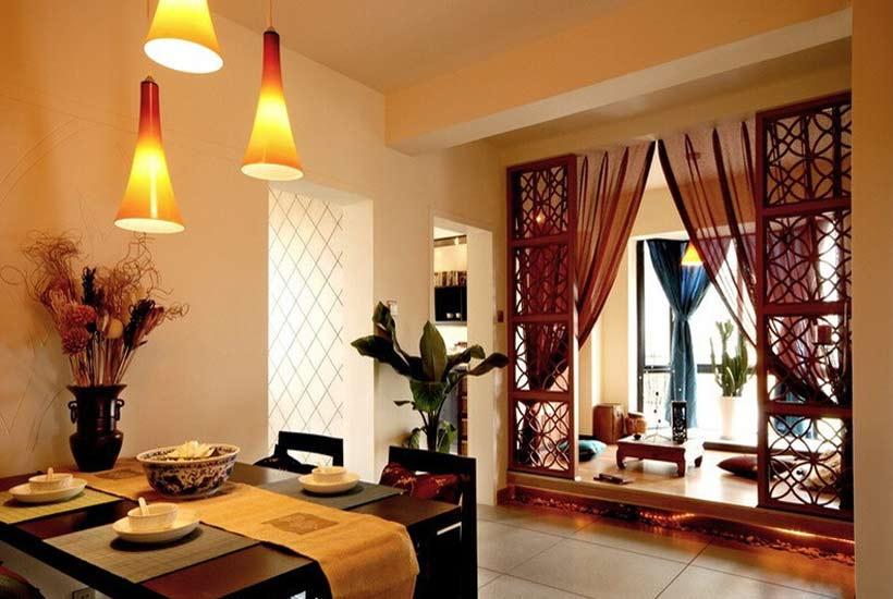 现代别墅客厅中式装修中如何运用红木家具高清图片