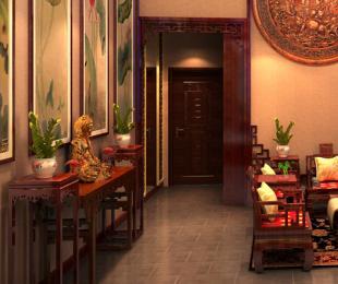 现代中式风格青岛别墅装修案例―高贵典雅禅意居