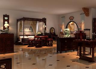 红木展厅古典中式装修案例图—精致出色红木艺术馆
