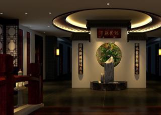 兰州机场现代中式茶楼会所装修案例图—品茶悟禅