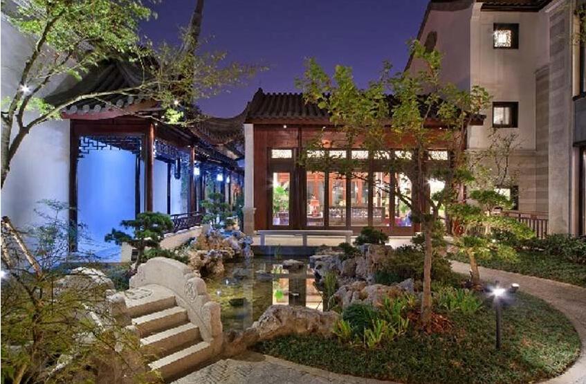 今日探讨别墅中式装修设计庭院的植物搭配