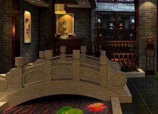 古典中式风格精品住宅装修案例—花开富贵清雅居