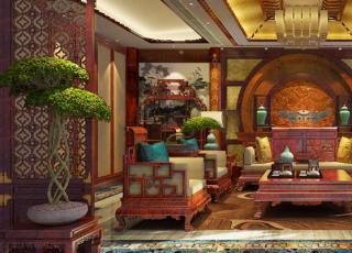 豪华别墅古典中式装修效果图