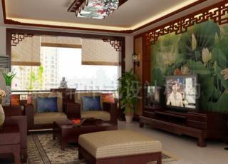 三居室的简约中式装修-一副美丽的山水墨卷