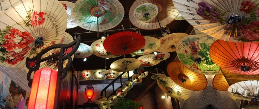 中国传统工艺之最美油纸伞 秦风汉月油纸伞