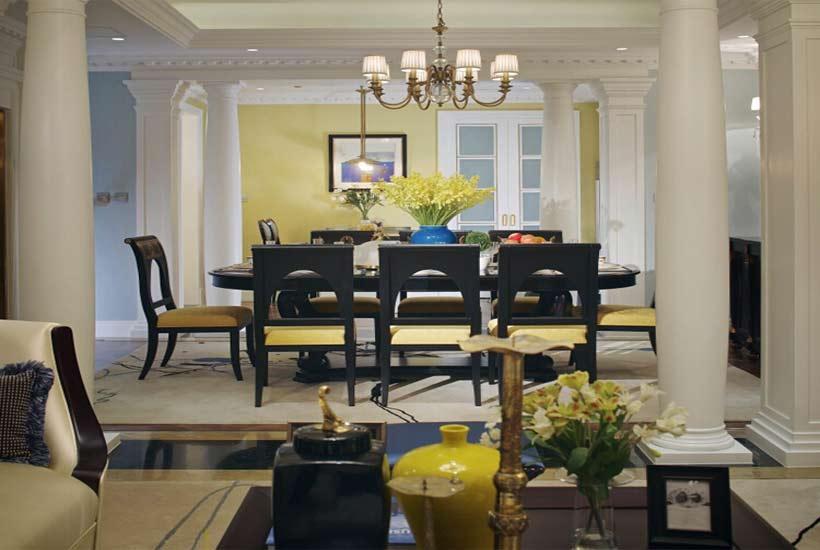 现代居室餐厅中式装修餐桌选择其实很讲究