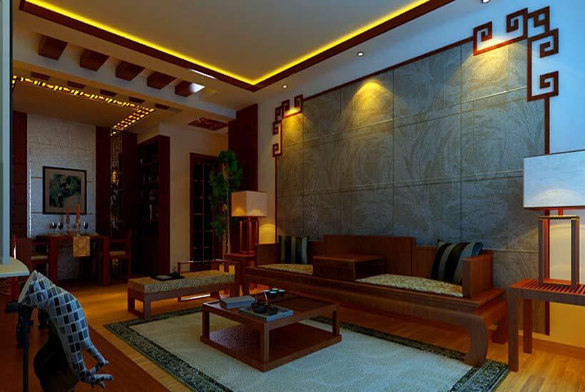 中式元素装饰电视背景墙面,与中式别墅内中式家具或者其它装饰品相互搭配,既让整个客厅具有浓浓的中国古典味道,又能体现其居家品味,如电视背景墙装修风格上与家居环境装修风格不相搭配,就会破坏家居生活环境,因此在装修电视背景墙时要注意其装修风格。   电视背景墙在装修上要注意其装修风格外,还要注意其装修材料的环保性,现在的建筑材料中很多材料都含有有害物质,用于家居装修中会对人的身体健康造成伤害,目前大家都讲究环保,在对家居材料的运用上也是一样,因此在装修电视背景墙时选择材料一定要选择具有环保性的装修材料。
