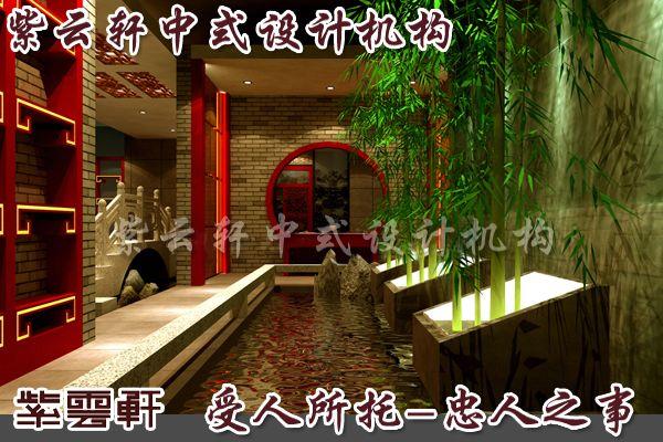 以青竹的净美姿态装点中式装修茶楼的雅然
