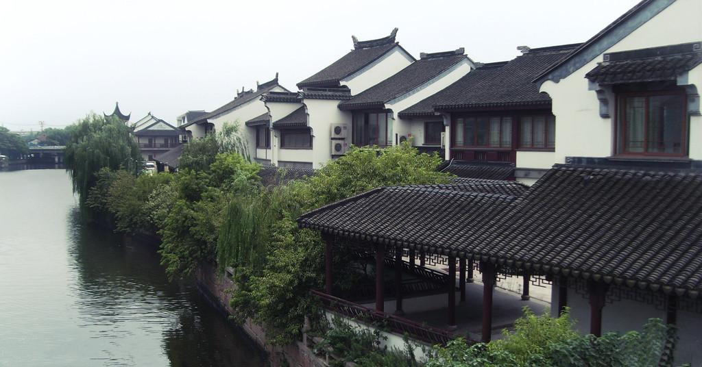 江南房屋手绘图