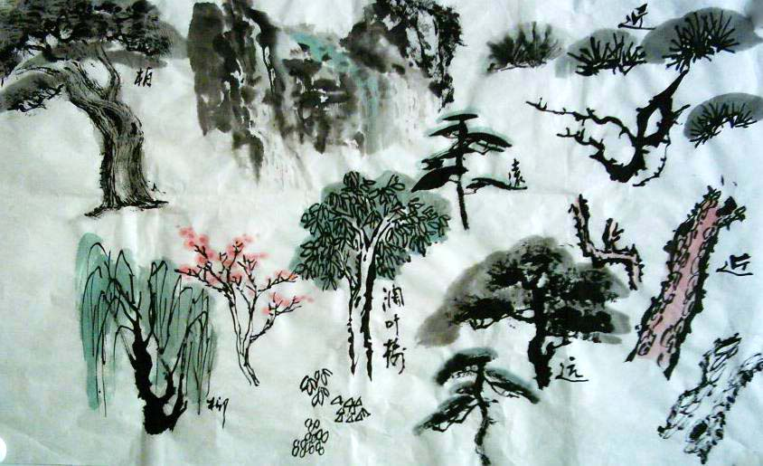 从四大方面来解析树在山水画中的画画技法
