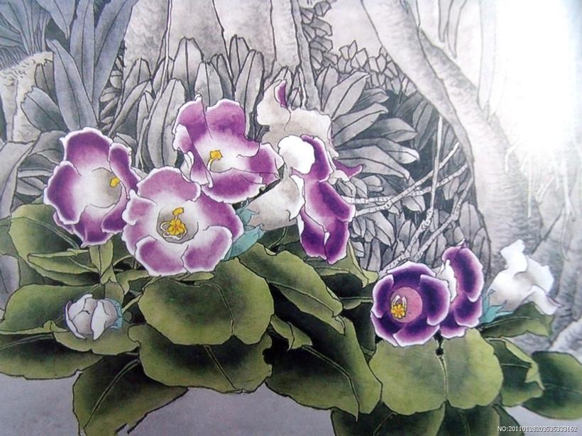中国的传统国画工笔画技法的相关要素