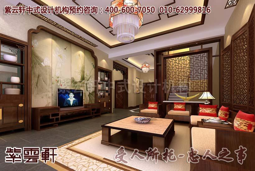 红木沙发赋予简约中式风格客厅以舒畅与自在