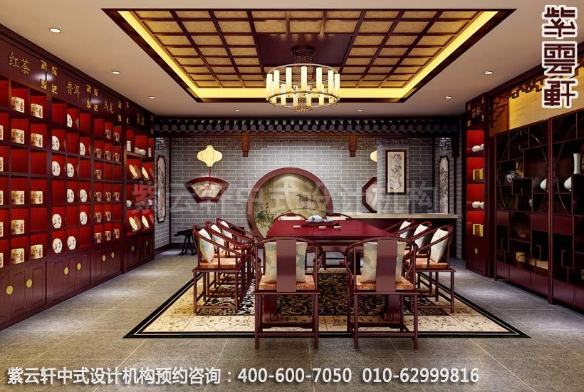 茶楼大厅古典中式装修效果图