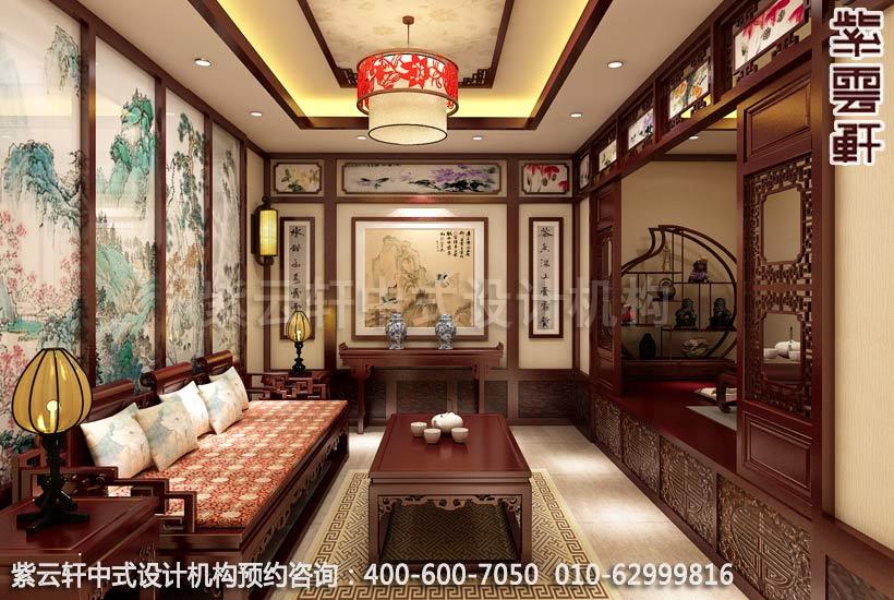 茶楼茶室古典中式装修效果图
