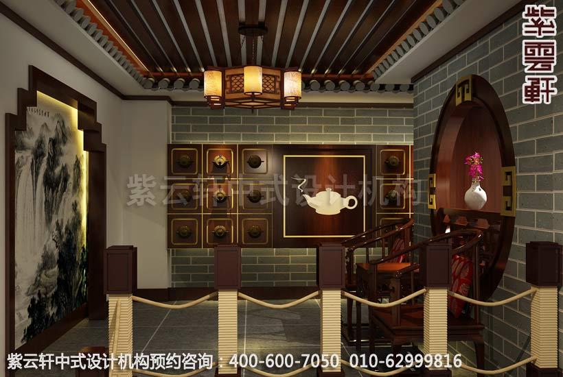 茶楼楼梯区古典中式装修效果图