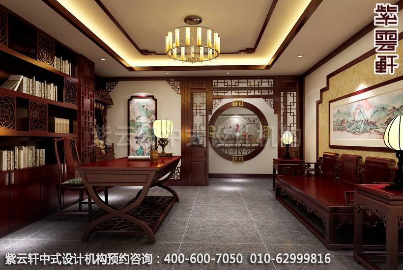 茶楼书房古典中式装修效果图