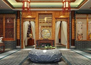 上海中医养生馆简约中式装修效果图图片
