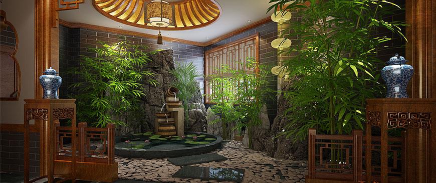 休闲会所             杭州国学会馆中式装修设计案例效果图赏析休闲
