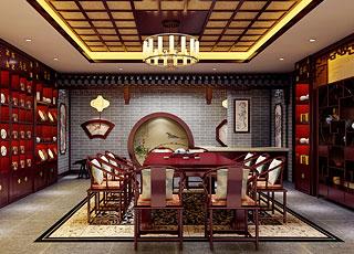 湛江茶楼会所古典中式装修案例图—优雅恬淡的田园生活
