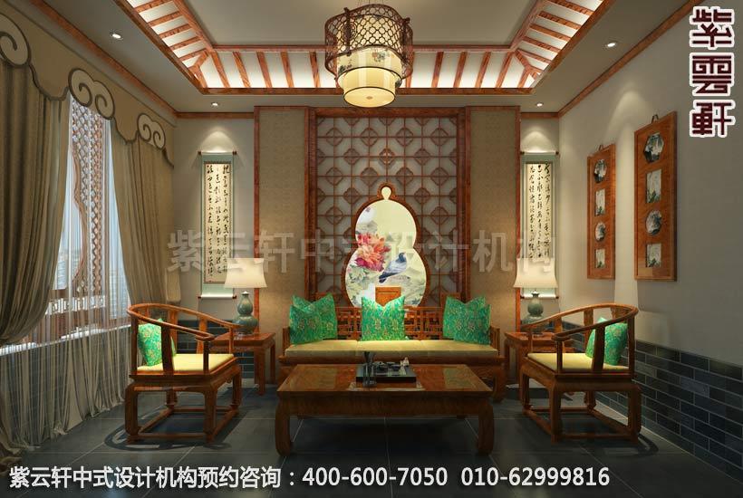 私人会所茶室古典中式装修效果图