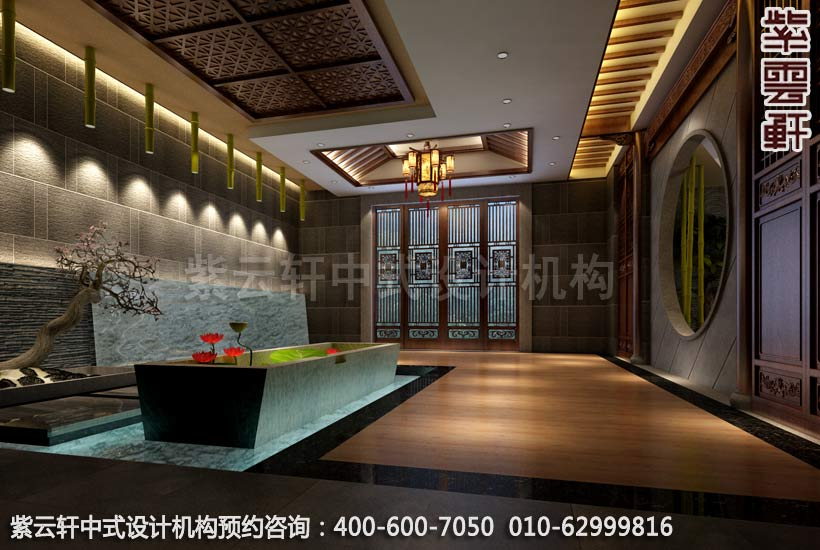 足浴店面副厅简约中式装修效果图