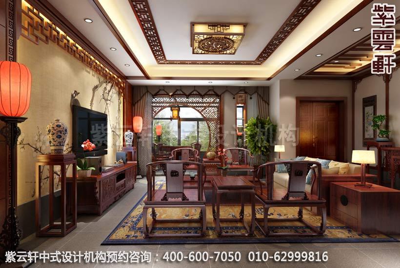 精品住宅客厅新中式装修效果图