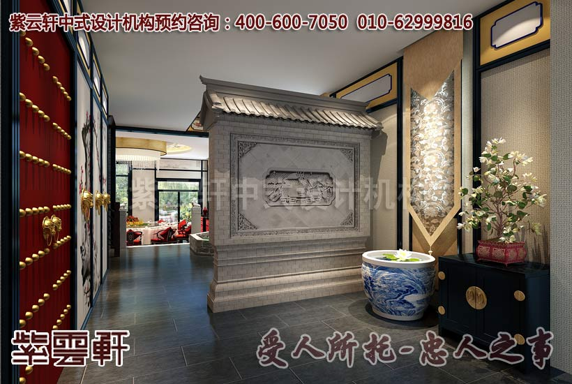 中式装修小户型玄关的设计要掌握五个原则高清图片
