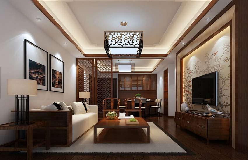 浅谈别墅客厅中式设计吊顶装修五大注意事项