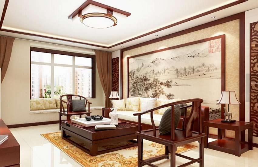 热荐最新潮的住宅中式装修电视背景墙设计