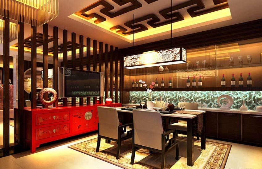 餐厅中式装修设计打造古典韵味沉稳就餐空间