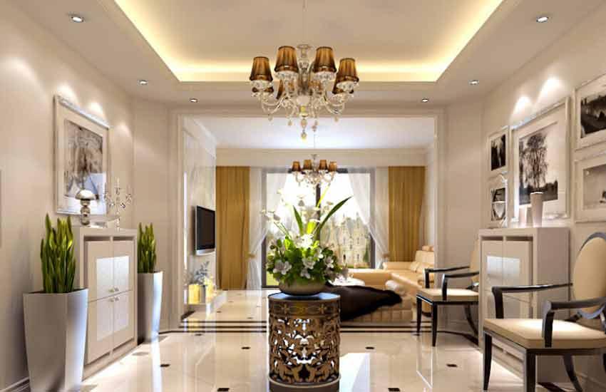 住宅小户型客厅在现代中式装修设计7个要点高清图片