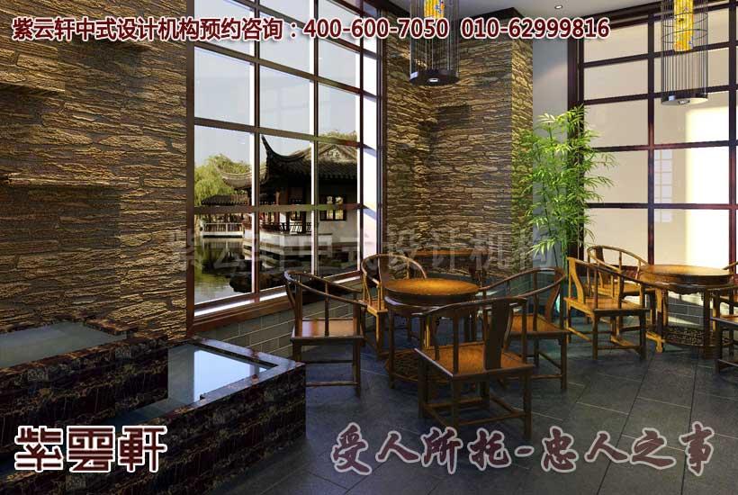 新中式风格装修茶楼环境清新典雅耳目一新