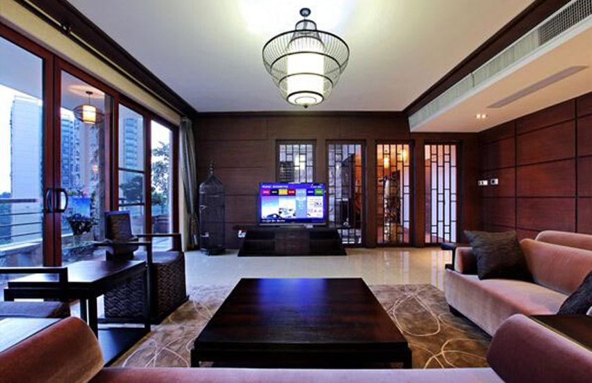 永不过时的新中式设计使居室空间更时尚柔媚