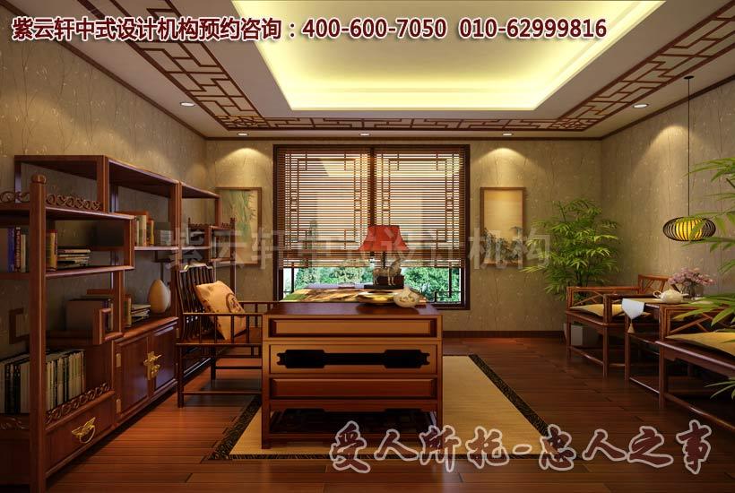 新中式风格装修的家居,选用了全木质的家具搭配红木地板,使空间随处可