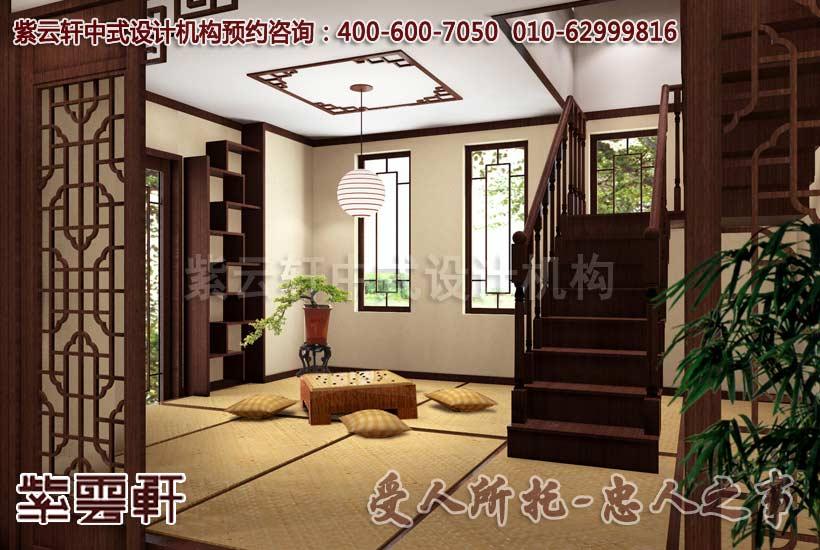 中式装修别墅楼梯设计是风水规划的重中之重