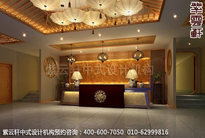 中式风格酒店遵循明清古典建筑的室内陈设