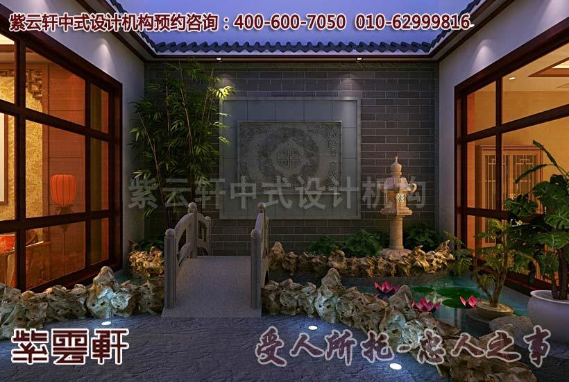 中式装修别墅庭院设计是洗尽铅华后的淡然 秦皇岛别墅图片