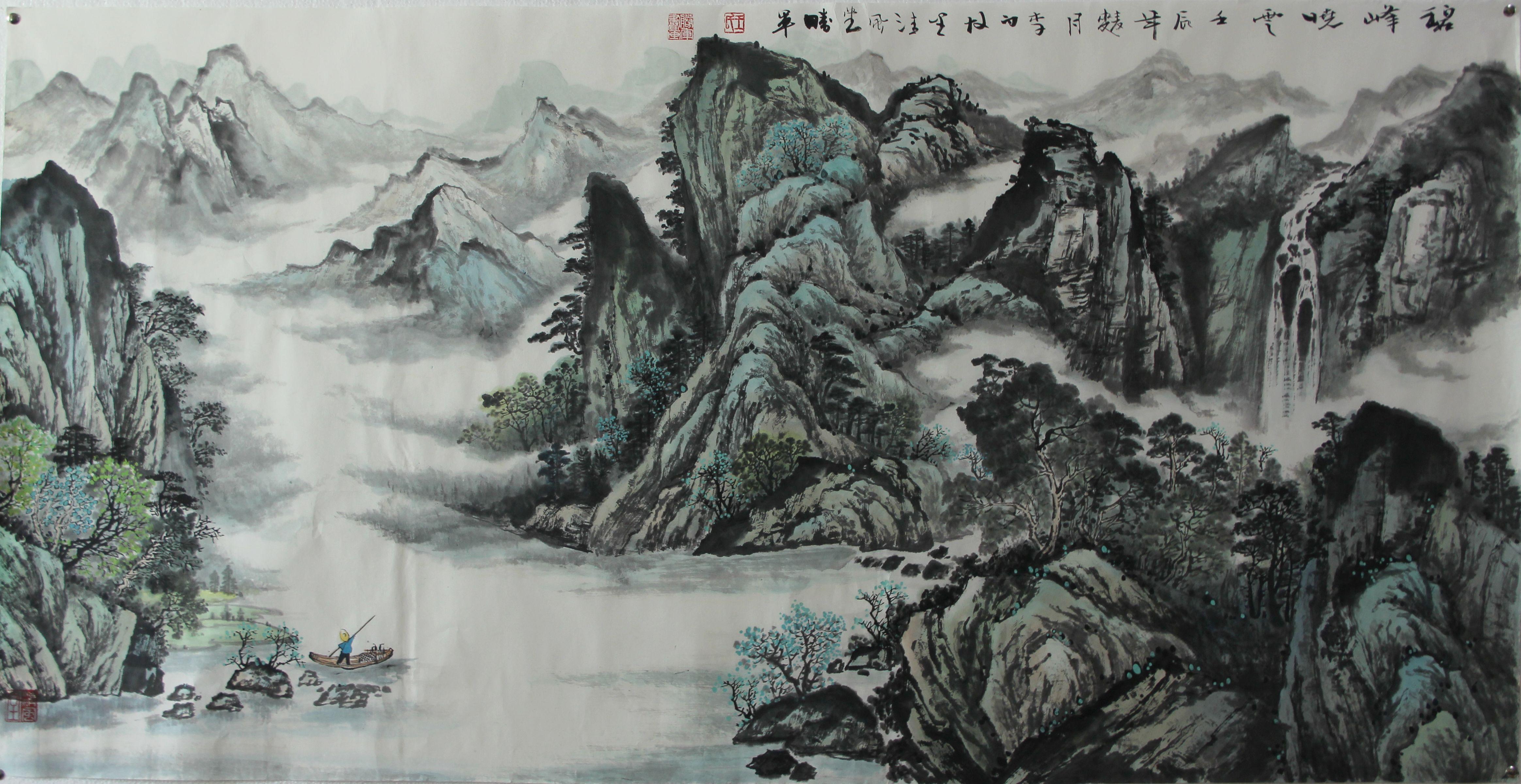 小编为大家介绍描绘山石的几种山水画技法