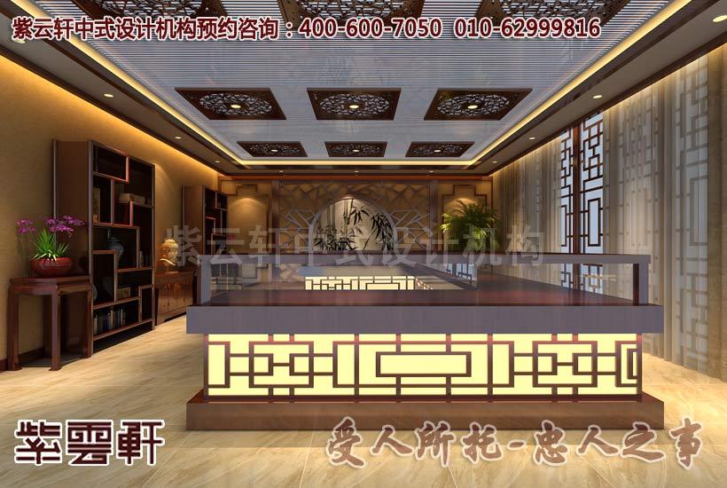 展厅中式装修效果图1