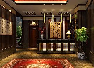 贵州度假客栈中式装修设计案例效果图赏析