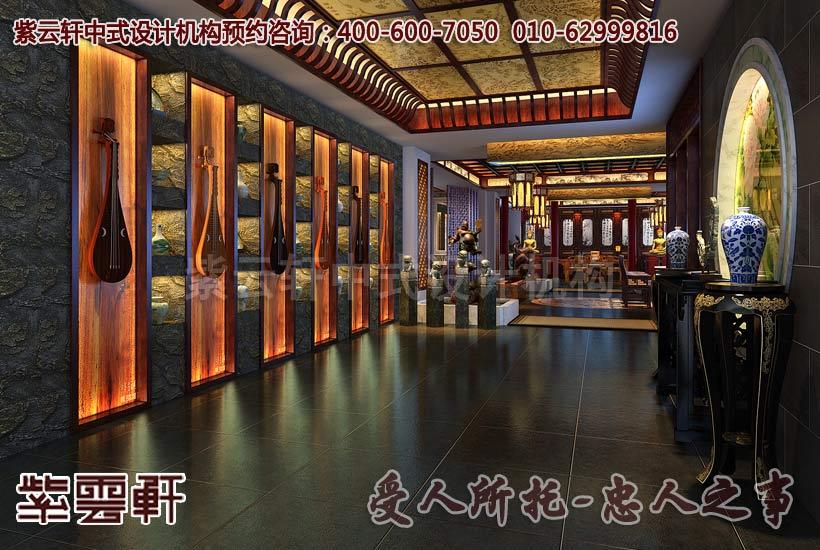 酒店餐厅-南昌高端餐饮会所中式装修设计案例赏析
