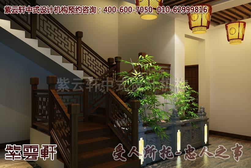 楼梯中式装修效果图