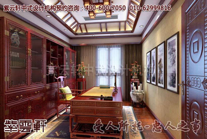江苏扬州唐郡别墅中式装修设计案例效果图赏析
