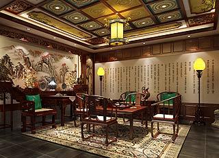 杭州国学会馆中式装修设计案例效果图赏析