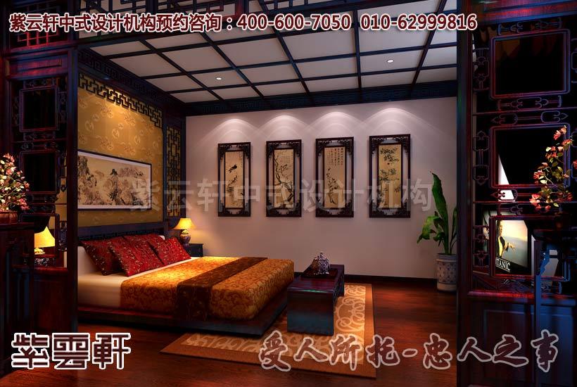 式装修效果图 现代中式风格 山东临沂别墅中式装修设计案