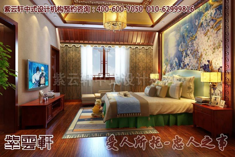 卧室中式装修效果图2