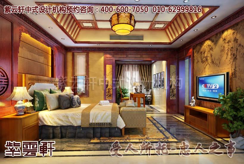 卧室中式装修效果图3