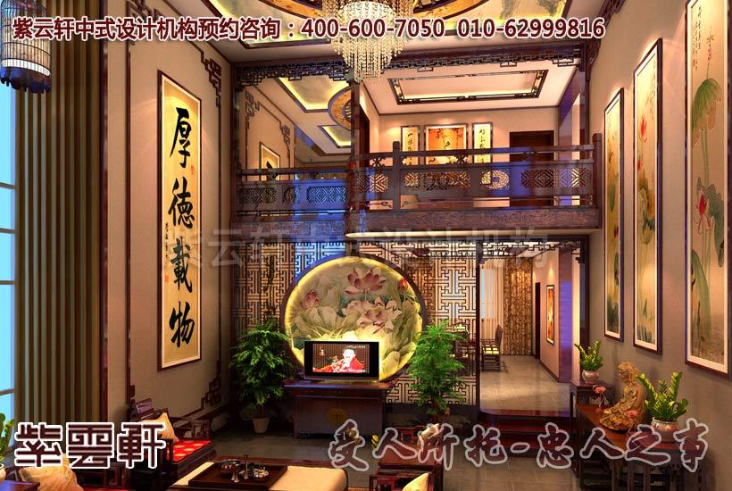 客厅现代中式装修之高空