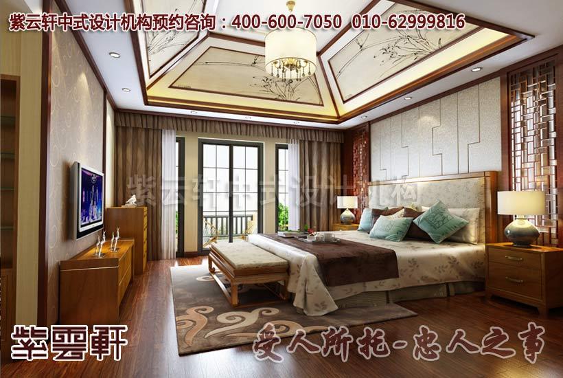 卧室简约中式装修效果图