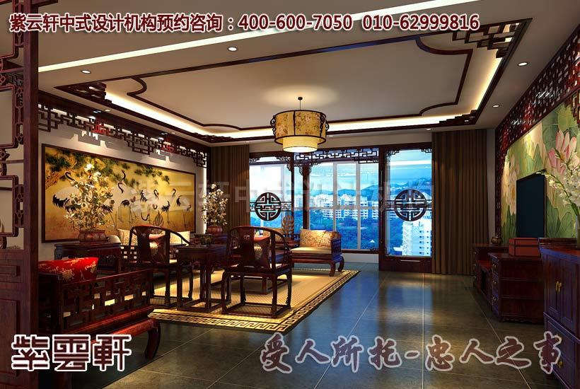 新中式风格家居装修设计 电视背景墙的特别装